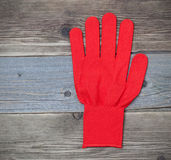 Red work glove Royalty Free Stock Photography