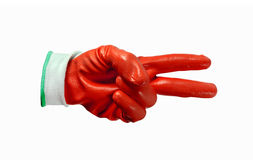 Red work gloves isolated Stock Image