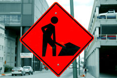 Red Workers Sign Royalty Free Stock Photos