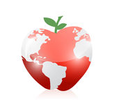 Red world map apple illustration design Royalty Free Stock Photo