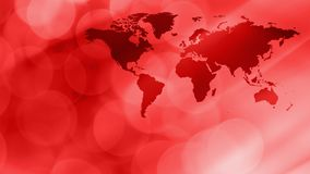 Red world map, breaking news background. World map breaking news concept, abstract background Stock Photos