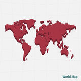 Red world map Royalty Free Stock Photos