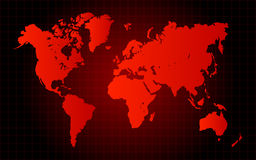 Red World Map Danger Concept Royalty Free Stock Photos