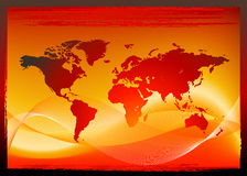 Red world map design Royalty Free Stock Photography