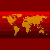 Red World Map Vector Stock Photography