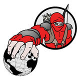 Red world ninja. Creative design of red world ninja Stock Photography
