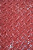 Red Worn Diamond Plate Metal. For Texture royalty free stock photo