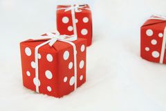Red wrapped gift Royalty Free Stock Photo