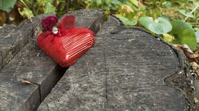 Red wrapped heart Royalty Free Stock Photography