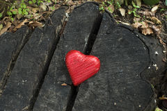 Red wrapped heart Royalty Free Stock Images