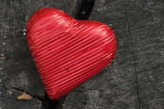 Red wrapped heart Stock Images