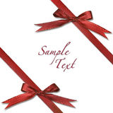 Red Wrapped Xmas Gift With Bows Stock Image