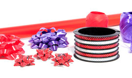 Red wrapping paper Stock Photo