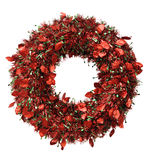 Red wreath for Christmas Royalty Free Stock Photo