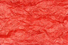 Red wrinkled paper texture Royalty Free Stock Images