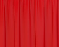 Red wrinkled silk curtains Royalty Free Stock Photography