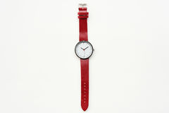 Red wristwatches. Isolated on white background Royalty Free Stock Photo