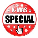 Red X-mas Button Royalty Free Stock Photography