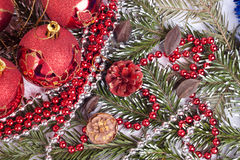 Red xmas background. Red combination for xmas background or xmas card Royalty Free Stock Images