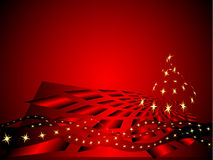 Red xmas background. Vector illustration Stock Photos