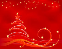 Red xmas background Royalty Free Stock Photos