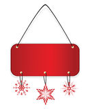 Red xmas badge with snowflakes Royalty Free Stock Photo