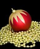 Red xmas ball Royalty Free Stock Image