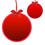 Red xmas ball for Chrismas festival. Eps10 Royalty Free Stock Photography