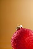 Red Xmas Ball. Close up photograph of some colourful christmas ornaments Stock Photography