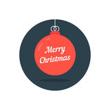 Red xmas ball icon like merry christmas Royalty Free Stock Photography