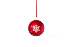Red Xmas Ball. Photograph of some red christmas baubles shot on white background Stock Photo