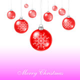 Red xmas balls Royalty Free Stock Photography