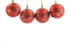 Red xmas balls Stock Images