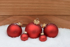 Red xmas balls Royalty Free Stock Photo