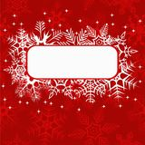 Red xmas banner Stock Photo