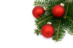 Red xmas bauble Royalty Free Stock Image