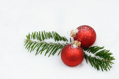 Red xmas bauble Royalty Free Stock Images