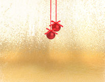 Red xmas  baubles Royalty Free Stock Photography
