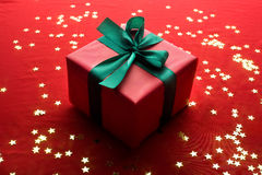 Red xmas gift Royalty Free Stock Images
