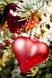 Red xmas heart Royalty Free Stock Image