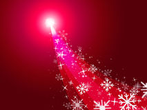 Red Xmas Represents New Year And Celebrate Royalty Free Stock Image