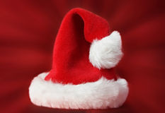 Red xmas santa hat Royalty Free Stock Photos