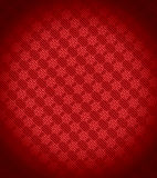 Red Xmas snowflake background. Stripes and vignetting added. Large resolution royalty free illustration