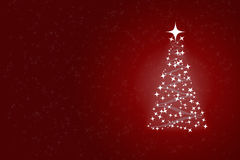 Red xmass card. Red christmas greeting card with free space for text Stock Photography