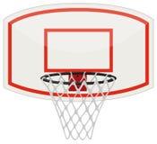 Red y aro del baloncesto stock de ilustración