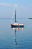 Red yacht Stock Image