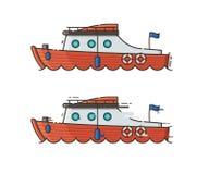 Red Yachting Boat Vector Illustration vector illustration
