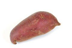 Red yam on white background. Single red yam on white background Royalty Free Stock Photography