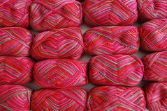 Red Yarn Background Stock Photos