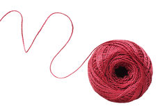 Red yarn Royalty Free Stock Photos